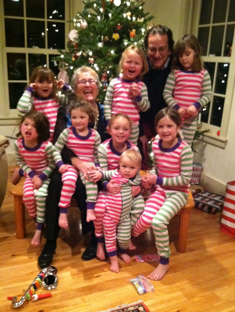 Carole and Ib, publishers of our book, with a horde of happy elves.