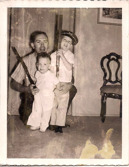 The Frost boys and dad, better armed than their distant cousin Jack Frost.