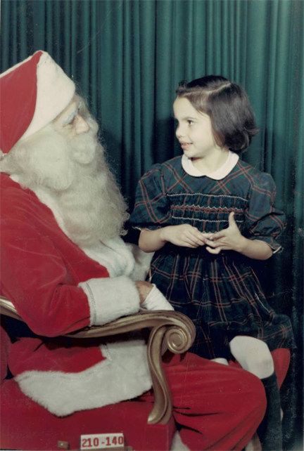 "This is Gail, the girl who loved ""The Little Drummer Boy"" in our book, at just that time, circa 1963."