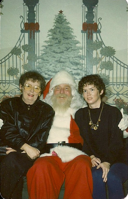 Cynthia Frost and her mom, with the big guy.